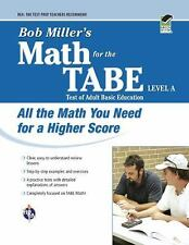 Bob Miller's Math for the TABE Level A (REA)-ExLibrary
