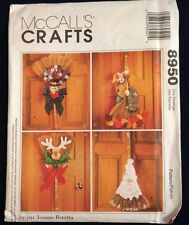 McCall's 8950 Craft ~ Decorated Brooms ~ Scarecrow Turkey Santa Sewing Pattern