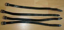 GERMAN WWII WEHRMACHT - SET OF 4 LATE WAR LEATHER BELTS TO CARRY EXTRA EQUIPMENT
