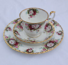Royal Albert CELEBRATION Footed Tea Cup, Saucer & Luncheon Salad Plate - MINT