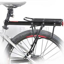 60kg Bicycle Bike Alloy Rear Rack Pannier Carrier Seatpost Mount Reflector Set