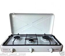 Fornello a gas 3 fuochi fornello da campeggio bianco cucina portatile bruciatori