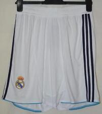 BNWT REAL MADRID 2012-2013 WHITE HOME SHORTS UK MENS WAIST 34""