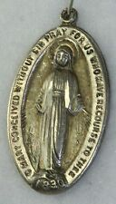 VTG CHAPEL STERLING SILVER MIRACULOUS MARY MEDAL