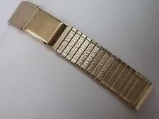 """Flex-Let Expanding Butterfly Clasp Gold Tn 17.5mm 11/16"""" Mens Vintage Watch Band"""