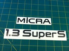 Nissan Micra 1.3 Super S SLX LX Replacement Restoration Tailgate decals Stickers
