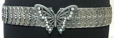 Elegante impresionante Plata Diamante Mariposa cinturón única impresionante Retro (B2)
