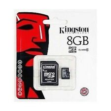 Scheda Kingston Memory Memoria Micro SD Microsd 8 gb Kingston SDHC Classe 4