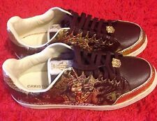 Christian Audigier Men Leather Shoes Authentic Limited Edition New/w Defect