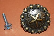 (20), Cabinet Pulls, Rustic, Texas, Cabin, Antique-look,Concho, set of 20,HW-35