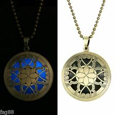 New Glow in the Dark Lotus Fairy Flower Metal Chain Locket Necklace Pendant