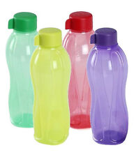 Tupperware Aquasafe Water Bottle 500ml Bottle 4Pc Set