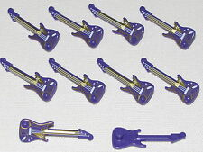 LEGO LOT OF 10 NEW PURPLE ELECTRIC GUITARS INSTRUMENTS PIECES