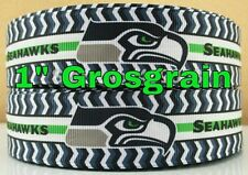 "NFL Seattle Seahawks 3 yards 1"" Grosgrain hair Ribbon Bow Headband, scrapbooking"