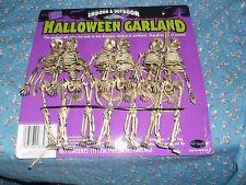 "ksm. NOC Indoor Outdoor Halloween Garland Overall Length 72""  Skeletons 5 7/8"" H"
