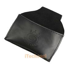 Black Protable Faux Leather Chalk Holder Pouch W/Clip Pool Billiards Snooker Cue