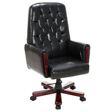 Modern High Back PU Leather Deluxe Guest Office Accent Chair Furniture Black New