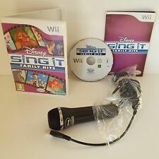Disney Sing It Family Hits Wii + Micrófono Oficial Disney Interactiva-Sin Manual