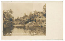 Ontario Canada * Big Chaudiere Rapids Water Drawn Off RPPC ca 1908