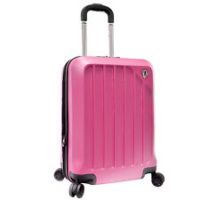 Luggage in Color:Pink, Features:Spinner, Material:Polycarbonate | eBay
