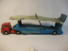 CORGI TOYS BEDFORD TK TYPE CARRIMORE CAR TRANSPORTER 1105 1962-66 BRITAIN RARE