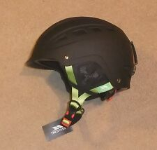 NUOVO Trespass furillo Gents CASCO DA SCI L / XL 56-62 cm Nero