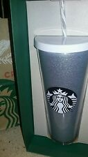 Starbucks Christmas Glitter Venti White Silver Cold Cup 24oz Tumbler..SOLD OUT!!