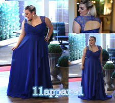 Plus Size Chiffon Bridesmaid Formal Gown  Party/Prom Evening Dress Size16-28W