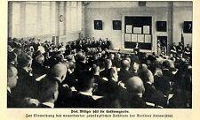 Zur Einweihung des neuen zahnärztlichen Instituts der Berliner Universität 1912