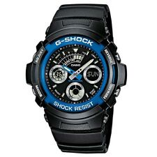 Casio AW-591-2AER Mens G-Shock Black Chronograph Sports Watch NEW RRP £75