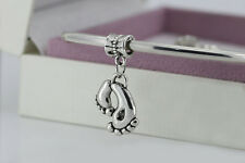 charm Silver new baby feet style shower pd bracelet european bead beads charms
