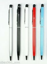 5X Capacitive 2in1 Touch Screen Stylus Ballpoint Pen for IPad IPhone IPod Tablet