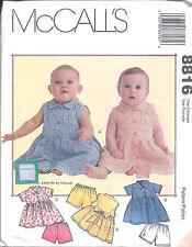 UNCUT Vintage McCalls Pattern Baby Infant Dress Shorts 8816 SEWING Princess Seam