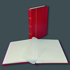 De sellos álbum, einsteckbuch einsteckalbum, 60 páginas blanco en rojo