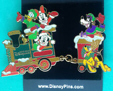 Disney HKDL Christmas 2005 Mickey Minnie Goofy Pluto Donald Fab 5 Train 2 Pins