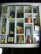 Mirror Shadow Box 13 Perfumes Youth Dew,Liz, Nina Ricci,White Linen, Chloe, etc