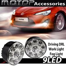 2PCS 9 LED HIGH POWER DRL DAYTIME RUNNING DRIVING LIGHT FOG WORKING LIGHT BULB