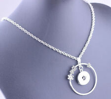 DIY chain pendant circle necklace chain fit 18mm nosa chunk snap button j3267