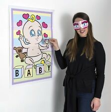 PIN THE DUMMY ON THE BABY Shower Party Game Boy Girl Unisex 12 PLAYER