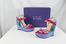 Stuart Weitzman Sexy Cute Colorful Platform Strappy Wedge Heels Pumps 6.5 $398