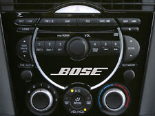 Mazda 3,6 RX8 Bose head unit - CD Player Decal Sticker x3 Silver Colour Choice