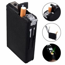 Cigarette Case & Lighter Automatic Ejection Butane Windproof Metal Box Holder DT