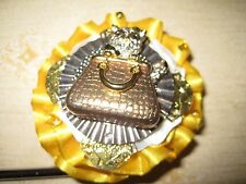 "Jeweled Cupcake Tabletop Bag Hanger ""Hidden Kitty"", Signed, Numbered, COA"