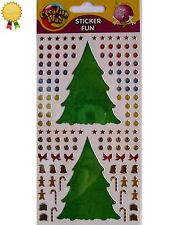 Purple Peach *TREE DECORATING* Stickers - Foil Shimmer - Christmas, Candy Cane