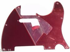NEW PICKGUARD TELECASTER red mirror pour Fender, Squier ou autre tele etc