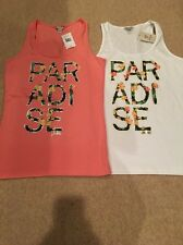 "Lot Of 2 ""PARADISE"" Tank Tops By Guess Size XL NWT"