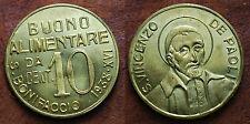 1938 Italia S.bonifacio Gettone  Buono alimentare da 10 cent S.Vincenzo de Paoli
