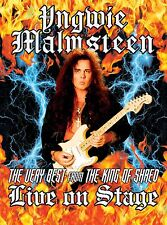 "YNGWIE MALMSTEEN ""VERY BEST FROM THE KING OF SHRED POSTER LIVE ON STAGE"" POSTER"