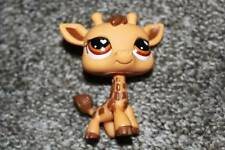 Littlest Pet Shop Giraffe #526 Orange Brown Heart Eyes LPS Toy Safari RARE HTF