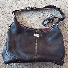 The Sak Black Leather Handbag Shoulder bag Purse - Very nice